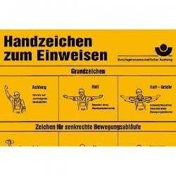Handzeichen zum Einweisen