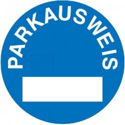 Parkausweis rund