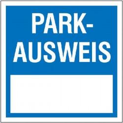 Parkausweis eckig