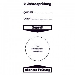 Grundplakette 2-Jahresprüfung