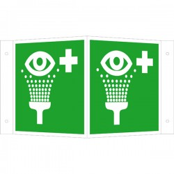 Winkelschild Augenspüleinrichtung |Erste Hilfe 2B Schilder