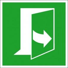 Tür öffnet durch Ziehen auf der linken Seite | Fluchwegzeichen B2B Schilder