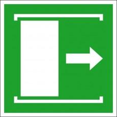 Schiebetür öffnet nach rechts | Fluchwegzeichen B2B Schilder