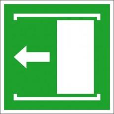 Schiebetür öffnet nach links | Fluchwegzeichen B2B Schilder
