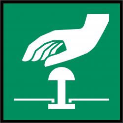 Not-Halt-Knopf | Fluchwegzeichen B2B Schilder