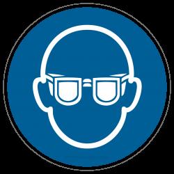 Augenschutz benutzen, Schutzbrille tragen |Gebotszeichen B2B Schilder