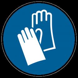 Handschutz benutzen , Schutzhandschuhe tragen |Gebotszeichen B2B Schilder