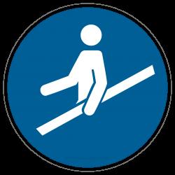 Handlauf benutzen |Gebotszeichen B2B Schilder