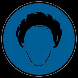 Kopfhaube tragen |Gebotszeichen B2B Schilder