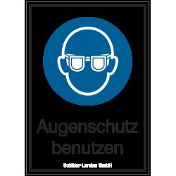 Augenschutz benutzen (Kombischild) |Gebotszeichen B2B Schilder