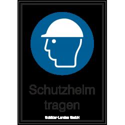 Schutzhelm tragen (Kombischild) |Gebotszeichen B2B Schilder
