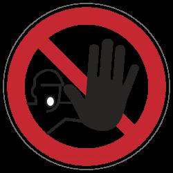 Zutritt für Unbefugte verboten | Verbotszeichen B2B Schilder