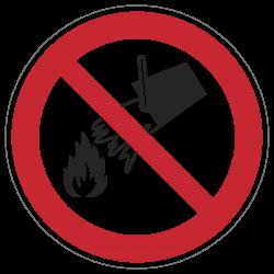 Mit Wasser löschen verboten | Verbotszeichen B2B Schilder