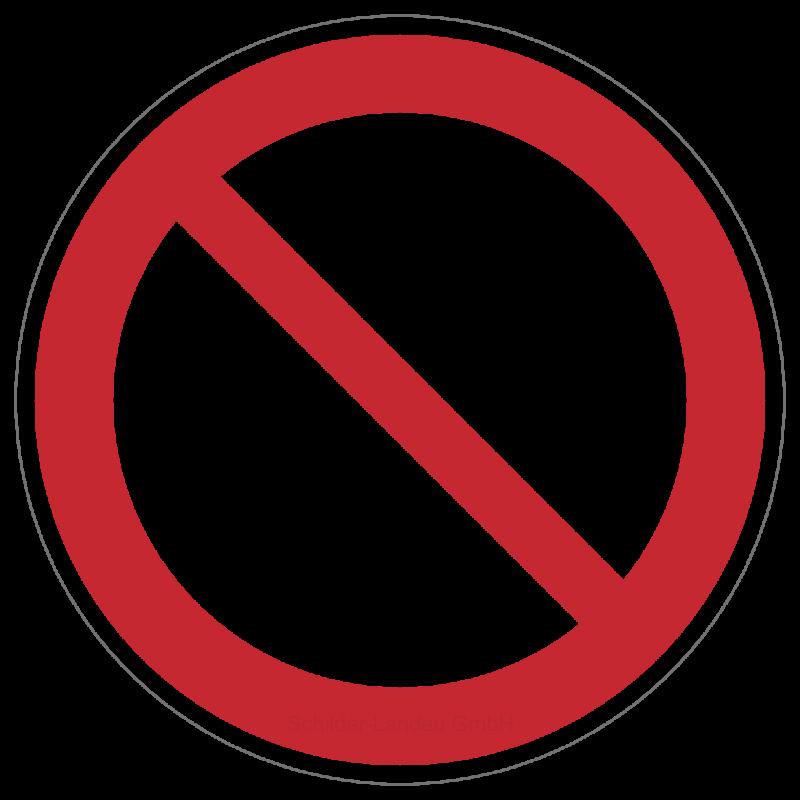 Allgemeines Verbotszeichen | Verbotszeichen B2B Schilder