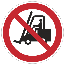 Für Flurförderzeuge verboten | Verbotszeichen B2B Schilder
