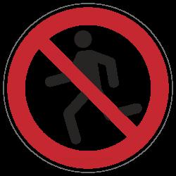 Laufen verboten   Verbotszeichen B2B Schilder