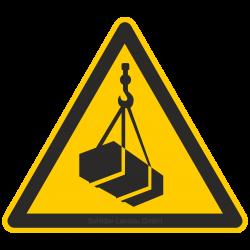 Warnung vor schwebender Last  Warnzeichen 2B Schilder