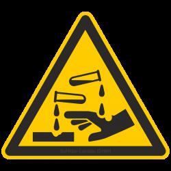 Warnung vor ätzenden Stoffen  Warnzeichen 2B Schilder