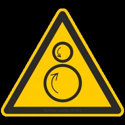 Warnung vor gegenläufigen Rollen |Warnzeichen 2B Schilder