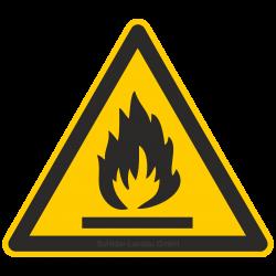 Warnung vor feuergefährlichen Stoffen |Warnzeichen 2B Schilder