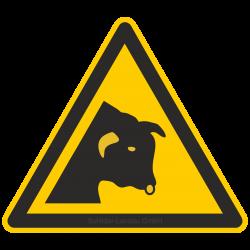 Warnung vor Stier |Warnzeichen 2B Schilder
