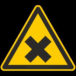 Warnung vor gesundheitsschädlichen oder reizenden Stoffen |Warnzeichen 2B Schilder