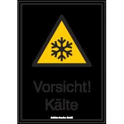 Vorsicht! Kälte (Kombischild) |Warnzeichen 2B Schilder