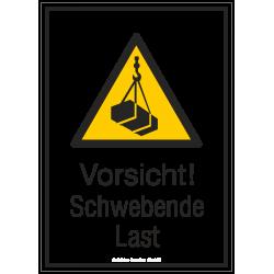 Vorsicht! Schwebende Last (Kombischild) |Warnzeichen 2B Schilder