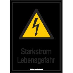 Starkstrom Lebensgefahr |Elektrozeichen B2B Schilder