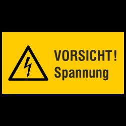 VORSICHT! Spannung (label)