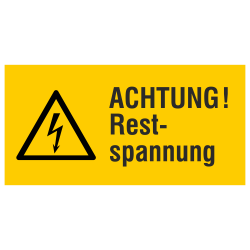 ACHTUNG! Restspannung (label)
