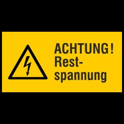 ACHTUNG! Restspannung (label)