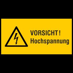 VORSICHT! Hochspannung (label)