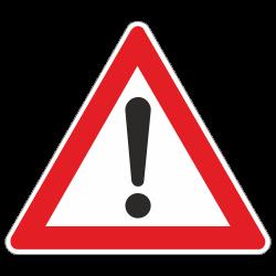 Gefahrstelle StVO Zeichen...