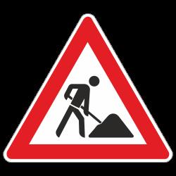 Baustelle StVO Zeichen Nr. 123