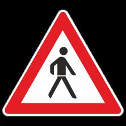 Fußgänger Auffstellung...