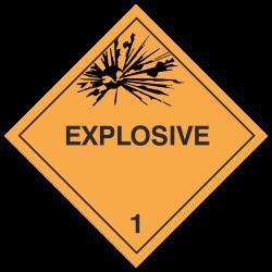 Klasse 1 Explosive Stoffe...
