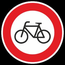 Verbot für Radfahrer StVO...