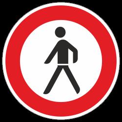 Verbot für Fußgänger StVO...