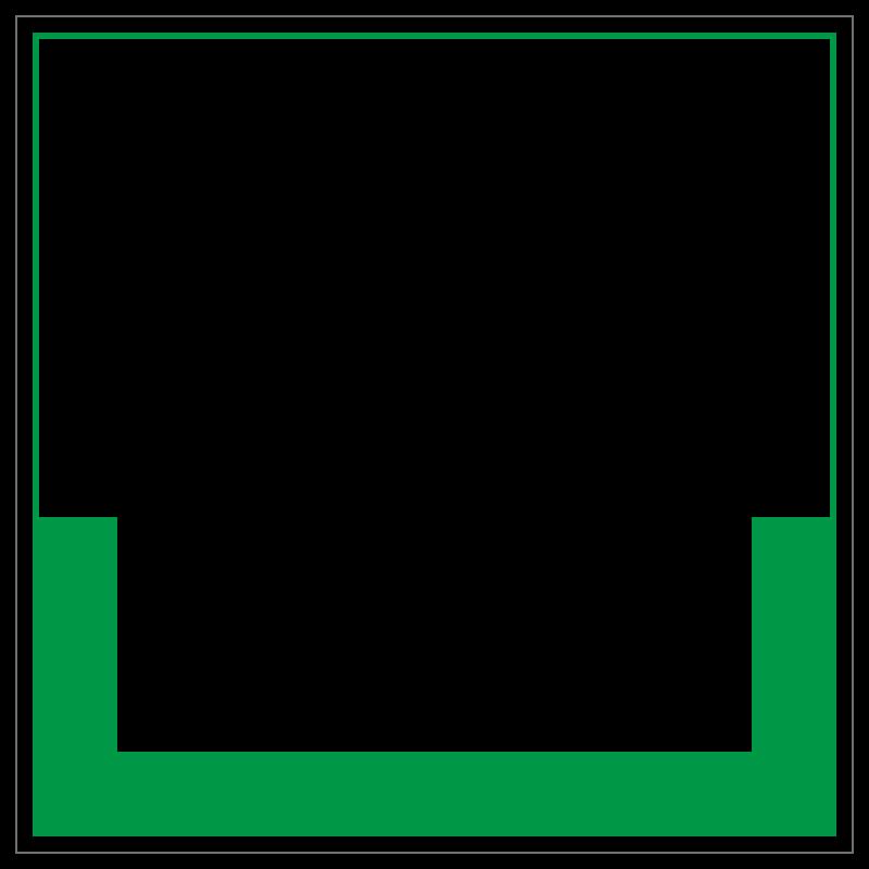 Altglas  Umweltzeichen 2B Schilder
