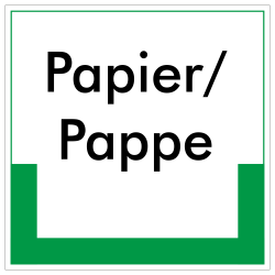 Papier/Pappe |Umweltzeichen 2B Schilder