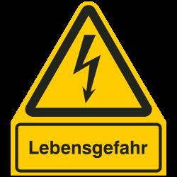 Lebensgefahr |Elektrozeichen B2B Schilder