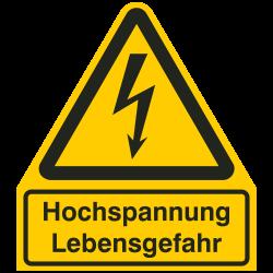 Hochspannung Lebensgefahr |Elektrozeichen B2B Schilder