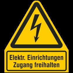 Elektrische Einrichtungen Zugang freihalten |Elektrozeichen B2B Schilder