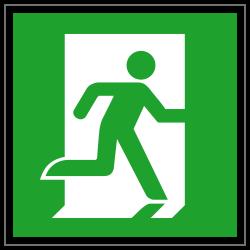 Notausgang rechts | Fluchwegzeichen B2B Schilder