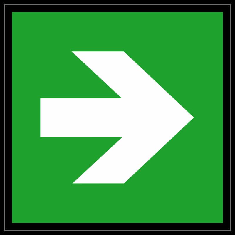 Richtungspfeil gerade | Fluchwegzeichen B2B Schilder