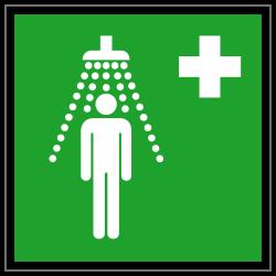 Notdusche |Erste Hilfe 2B Schilder