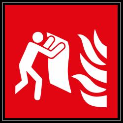 Feuerlöschdecke | Brandschutzschild B2B Schilder