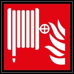 Löschschlauch | Brandschutzschild B2B Schilder