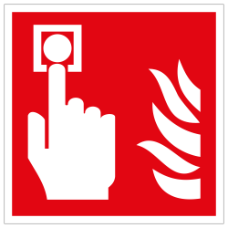 Brandmelder (manuell) | Brandschutzschild B2B Schilder